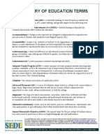 Glossary of Ed Terms
