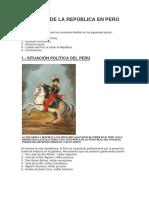 Inicios de La República en Perú