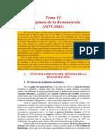 El Regimen de La Restauracion (1875-1902) y Desastre de Cuba