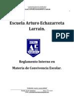 Reglamento Interno en Materias de Convivencia Escolar