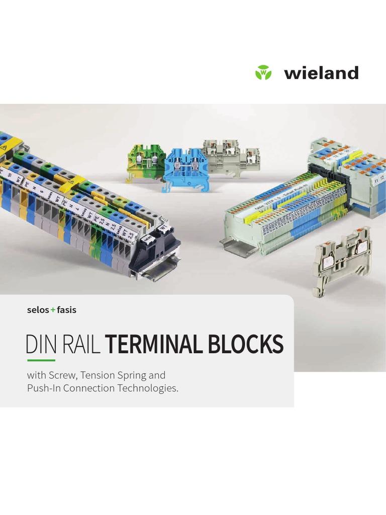 Lot of 10 NEW Wieland WKC-2,5SL//35 Din Rail Terminal Block