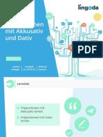 Deutsch - Präpositionen mit Akkusativ und Dativ