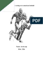 Mijn Ckv Verslag Over Amarican Football