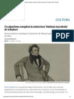 Un algoritmo completa la misteriosa 'Sinfonía inacabada' de Schubert _ Cultura _ EL PAÍS