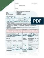Plan de Clase (Matematicas) Secundaria-1