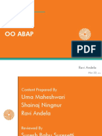 OO ABAP - PPT - Ravi Andela - Nov 22nd,2014
