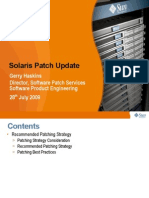 Solaris Patch Update Cust July2009