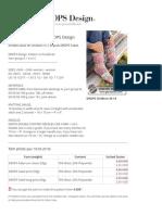 Pink Chameleon - Knitted Socks for Children in 2 Strandsgn