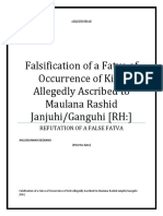 Falsification of a Fatva of Occurrence of Kizb Allegedly Ascribed to Maulana Rashid Janjuhi/Ganguhi [RH:]