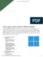 Cómo Copiar Archivos Desde La CMD de Windows
