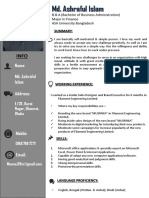 Curriculum Vitae of Md. Ashraful Islam