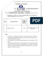 Notification TANGEDCO Gangman Trainee Posts
