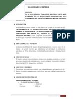 ESPECIFICACIONES T. DE COLEGIO EN AREQUIPA
