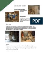 Proceso Fabricación CAJAS de CARTON