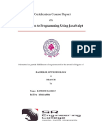 Certification Course Report-raghav