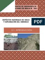 Depósitos Naturales  del Suelo y Exploración del Subsuelo