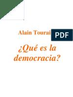 Alain Touraine Que Es La Democracia