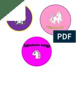Stickers Unicornio (2)