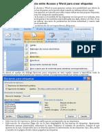Combinar correspondencia entre Access y Word para crear.docx