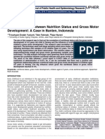 The Correlation between Nutrition Status and Gross Motor Development