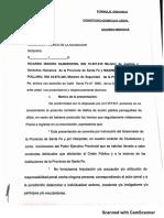 Denuncia presentada ante el Ministerio Público de la Acusación