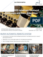 The MURAVES telescope Front-end Electronics and Data Acquisition