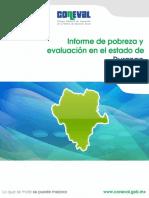 Informe de pobreza y evaluación en el estado de Durango 2012