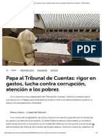 Papa Al Tribunal de Cuentas_ Rigor en Gastos, Lucha Contra Corrupción, Atención a Los Pobres - Vatican News