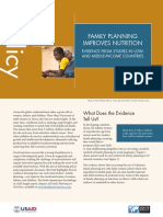 Family Planning and Nutrition (Brief)