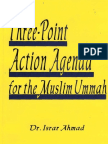 Three Point Agenda for Muslims