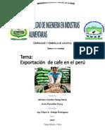 Exportacion de Cafe en El Peru