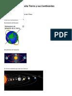 El Planeta Tierra y Sus Continentes