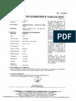 certificado de calibración de manómetros
