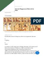 Similitudes Entre Le Papyrus d'Ani Et Le Jugement Dernier