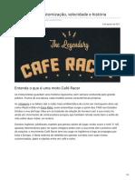 Café Racer Customização Velocidade e História