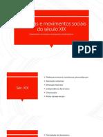 Aula 11 - Doutrinas e Movimentos Sociais Séc. Xix