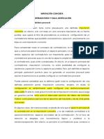 Imputaciòn concreta y falsa justificaciòn.docx