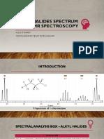 Alkyl Halides Spectrum by H-NMR Spectroscopy