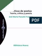 Pozuelo Yvancos Jose Maria - Poetica de Poetas