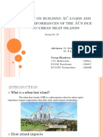 Impact on Building AC Loads and the Performances of the ACs Due to Urban Heat Islands