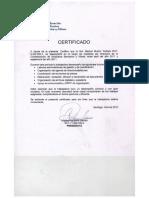Certificado Confederación Bancaria de Chile