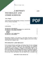 1979 Relaciones Entre Psicologia y Otras Ciencias