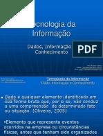 1 - Dado-Informação e Conhecimento