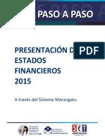 Guías Paso a Paso - Presentación de Estados Financieros 2015 en Adelante