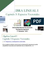 álgebra lineal espacios vectoriales