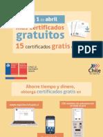 Certificados del Registro Civil que se podrán obtener gratis online a partir del 1 de abril