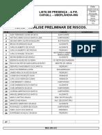 Lista de Presença - A.p.r.