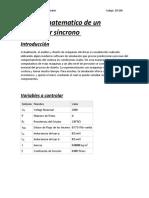Modelo Matematico de Un Generador Sincrono