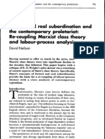 Formal and real subordination and the contemporary proletariat