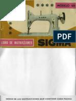 Manual de instrucciones de la Sigma 101